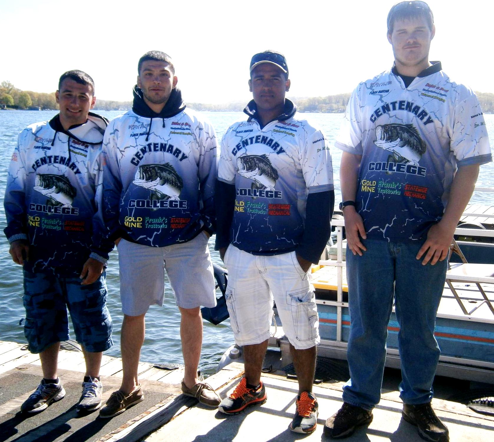 Centenary college bass fishing team for Fishing team shirts